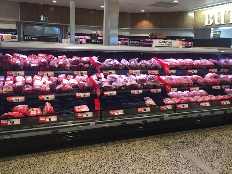 オーストラリアのスーパーの食材売り場2