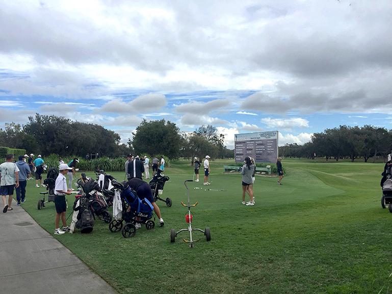 2018年クイーンズランドガールズアマチュアゴルフチャンピオンシップ初日練習風景2
