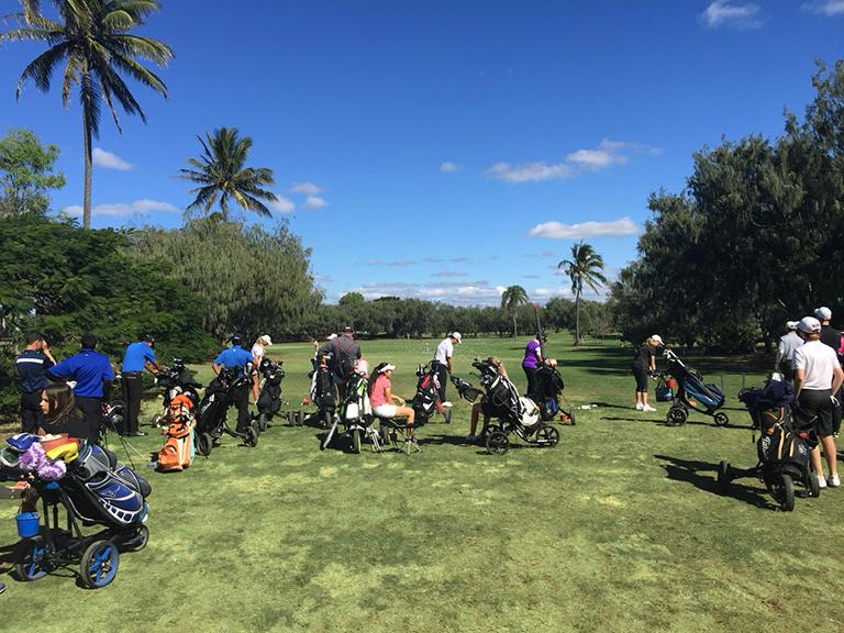 2018年クイーンズランドガールズアマチュアゴルフチャンピオンシップ初日練習風景