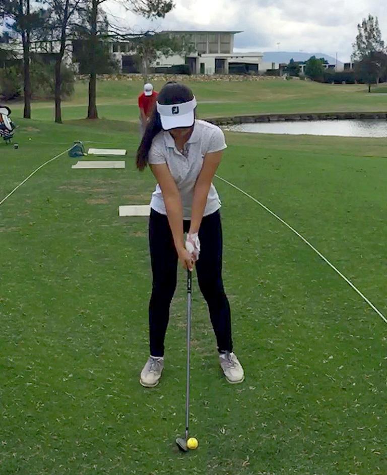 2018クイーンズランドガールズアマチュアゴルフ大会の反省を兼ねてスイングの確認2